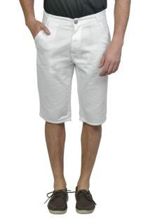 Bermuda Sarja Bolso-Faca Branca Yck'S