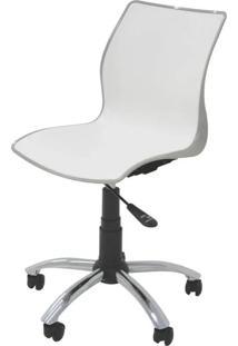 Cadeira Maja Com Rodizio Cor Camurca C/ Branco - 19608