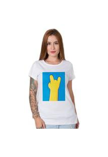 Camiseta Simpsons Hand Branco