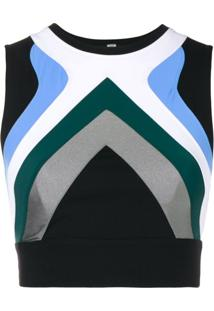 No Ka' Oi Regata Cropped Color Block - Preto