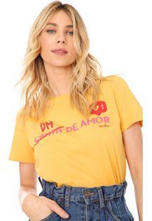 Camiseta Cantão Dm De Amor Amarela