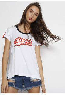 "Camiseta ""Angelâ®""- Branca & Laranjaangel"