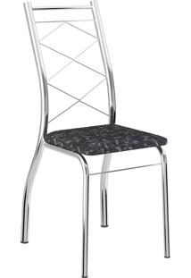 Kit 2 Cadeiras 1710 Tecil Fantasia Mã³Veis Carraro Preto - Preto - Dafiti