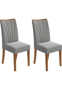 Conjunto Com 2 Cadeiras Apogeu Rovere E Cinza