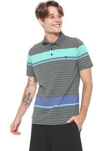Camisa Pólo Hurley Listrado masculina  932ce05d5dbe6