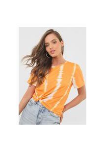 Camiseta Lança Perfume Tie Dye Laranja