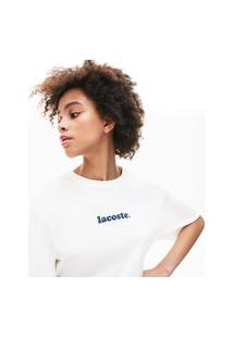 Camiseta Lacoste Regular Fit Branco