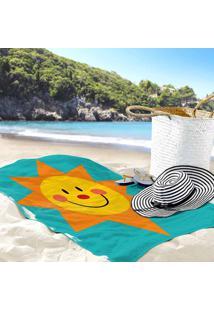 Toalha De Praia / Banho Sol Radiante E Feliz