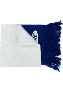 Off-White Cachecol Com Logo - Azul
