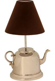 Abajur De Metal Round Teapot Bivolt
