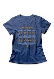 Camiseta Feminina Schools Of Magic Azul