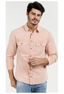 7c7eff559a Camisa Masculina Sarja Manga Longa Marisa