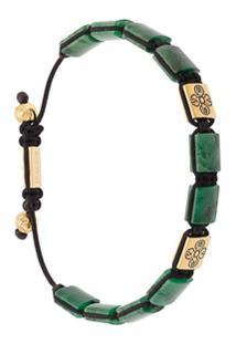 Nialaya Jewelry Bracelete 'Dorja Flatbead' Com Jade Africana - Verde