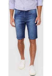 Bermuda Jeans Wrangler Slim Estonada Azul