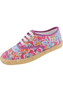 Sapatilha Spring Shoe Ss-555 Azul E Rosa E Laranja