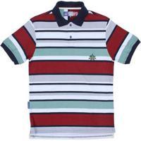 Camisa Polo Listrada Rodeo Western Masculina - Masculino-Branco 3858a8a573255