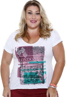 Blusa Feminina Estampa Londres Plus Size Marisa