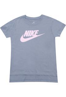 Camiseta Nike Menina Frontal Azul