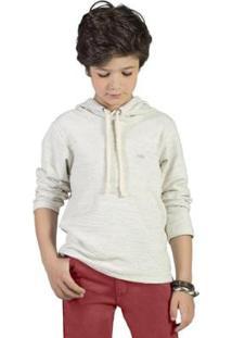 Casaco Infantil Bugbee Texturizado Masculina - Masculino-Mescla