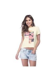 T-Shirt Fem Guess Recorte