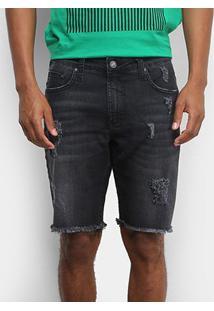 Bermuda Jeans Colcci Davi Puídos Masculina - Masculino