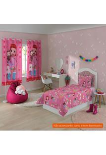 Jogo De Cama Infantil Com 3 Peças Rainbow Ruby I Algodão Rosa