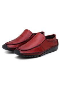 Sapato Em Couro Hayabusa Duna 20 Vermelho