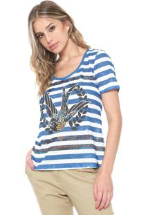 Camiseta Cantão Andorinha Branca/Azul