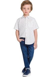 Camisa Infantil Milon Branco