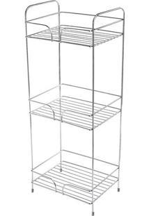Organizador Multiuso Com 3 Posições- Prateado- 70X26Future