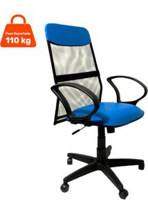 Cadeira De Escritório Presidente Costaneira Soft Azul