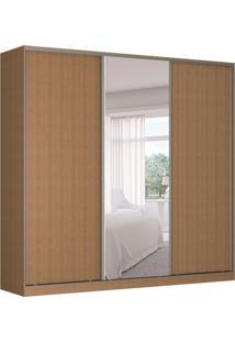 Guarda-Roupa Casal Com Espelho Tunas I 3 Pt 3 Gv Marrom