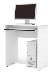 Mesa De Computador Prática Com Gaveta - Branco - Ej Móveis