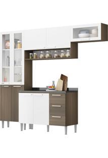 Cozinha Heloisa Castanho Fosco/Branco Genialflex Móveis