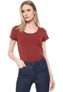 Camiseta Dudalina Lisa Vinho
