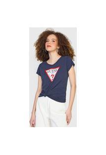 Camiseta Guess Logo Azul-Marinho