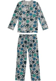 Pijama Estampado Monstrinhos Menino