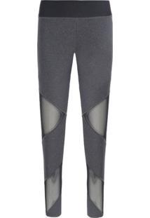 Calça Legging Mesh Nike - Cinza