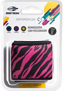 Munhequeira Com Posicionador Mormaii Colors Zebra Pink Tamanho Único Com 1 Unidade