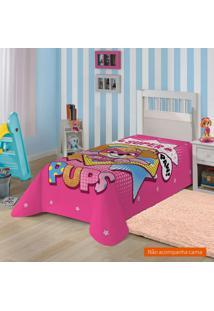 Manta Infantil Patrulha Canina (150X220) Poliéster Pink