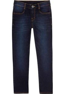 Calça Jeans Infantil Menino Skinny Hering Kids Azu