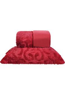 Kit Edredom Slim Peles Com 2 Porta Travesseiros King Magestic Laca