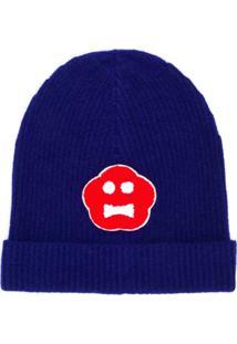 Aspesi Gorro 'Kinki' Com Logo - Azul