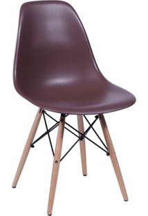 Cadeira Eames Dkr- Café & Madeira- 80,5X46,5X42Cm