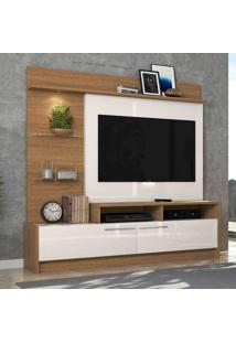 Estante Para Tv Ipanema Até 60 Polegadas Natura Real/Off White - Colibri Móveis
