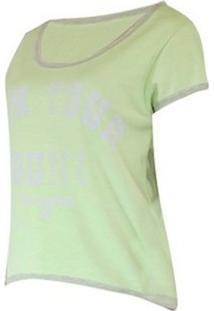 Camiseta Double Billabong Feminina - Feminino-Verde