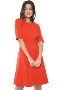 Vestido Banana Republic Curto Paneled Fit-And-Flare Vermelho