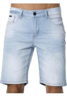 Bermuda Jeans Diferenciada Vlcs Masculina - Masculino-Azul