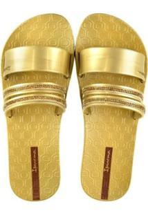 Rasteira Ipanema New Glam Feminino - Feminino-Dourado