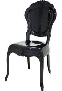 Cadeira Belle Epoque Policarbonato Cor Preto - 21717 - Sun House